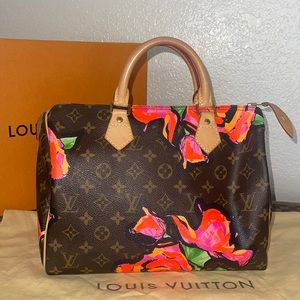 Authentic Louis Vuitton sprouse roses speedy 30